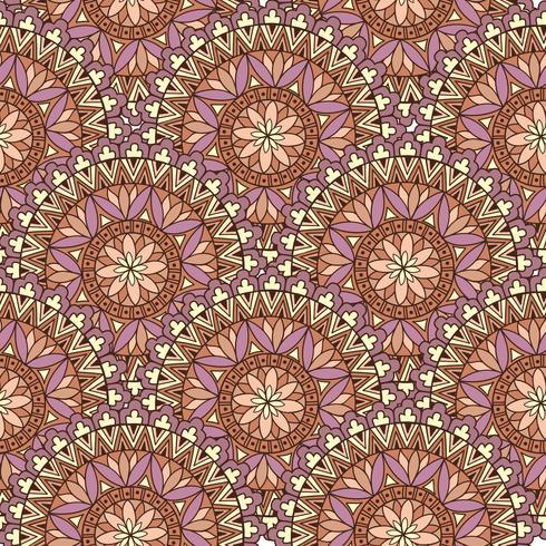 Teste padrão abstrato da telha de mosaico. Ornamento circular geométrico Oriental vetor