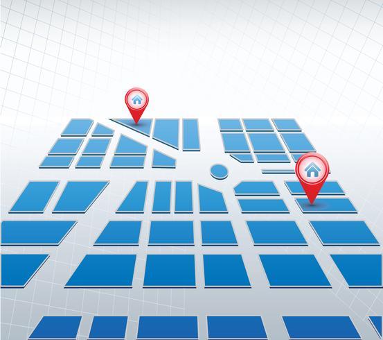 Mapa azul vetor