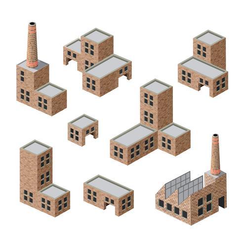 edifícios de tijolo vetor