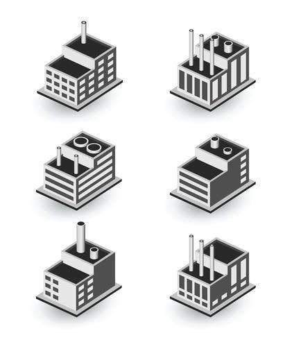 Edifícios isométricos vetor