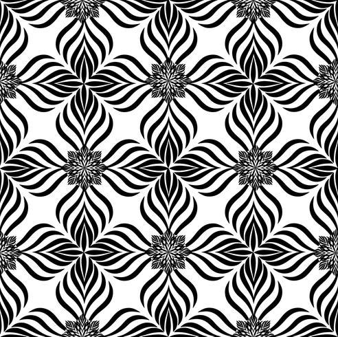 Abstract seamless pattern Ornamento de linha geométrica oriental floral vetor