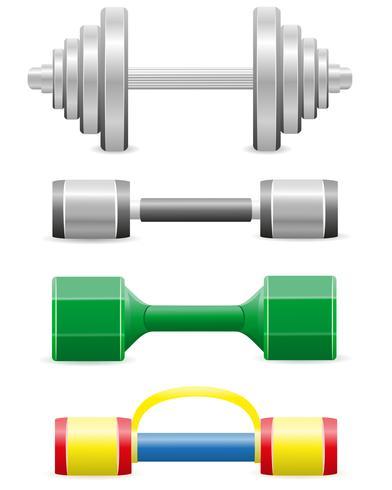 halteres para ilustração vetorial de fitness vetor