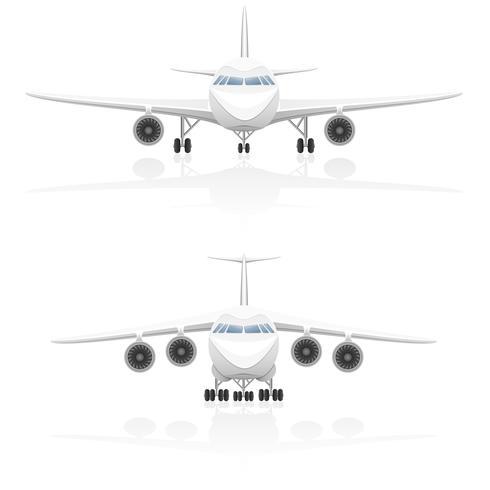 ilustração vetorial de avião vetor