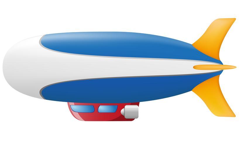 ilustração vetorial de zepelim vetor