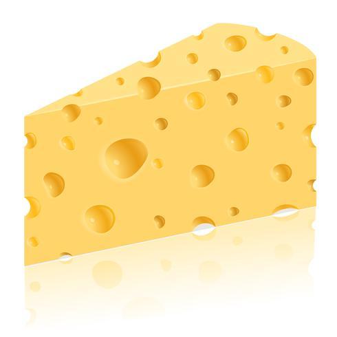pedaço de ilustração vetorial de queijo vetor