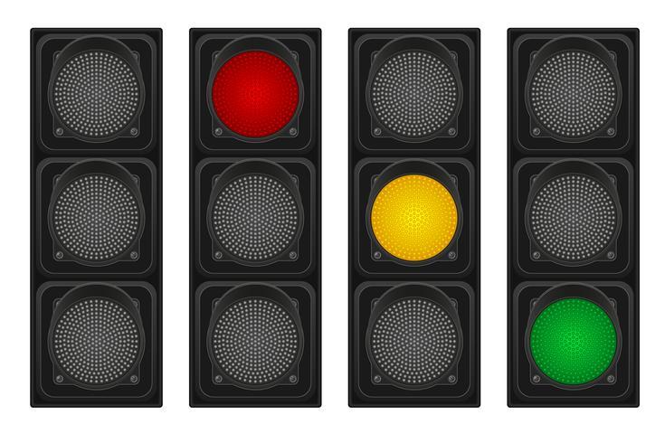 semáforos para ilustração vetorial de carros vetor