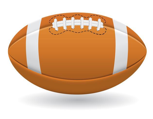 bola para ilustração vetorial de futebol americano vetor