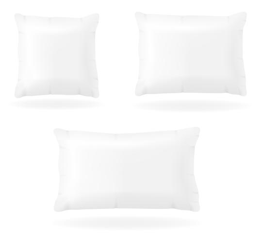 travesseiro branco para dormir ilustração vetorial vetor