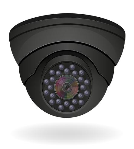 ilustração do vetor de câmeras de vigilância