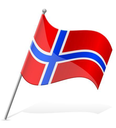 bandeira da ilustração vetorial de Noruega vetor