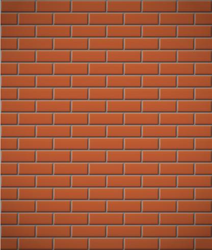 parede de fundo sem emenda de tijolo vermelho vetor