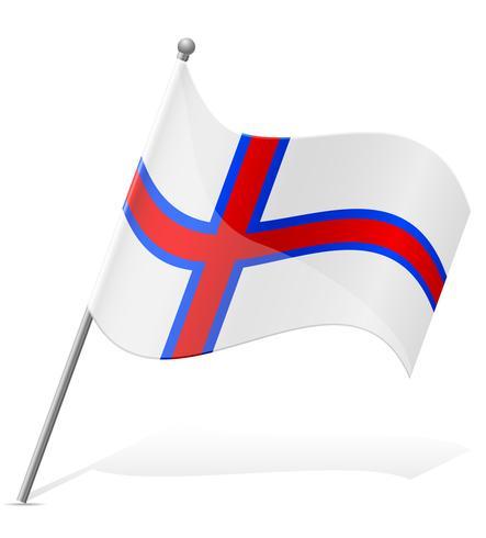 Bandeira das Ilhas Faroé ilustração vetorial vetor