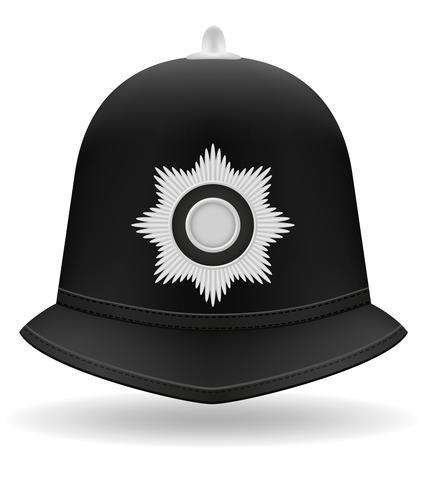 ilustração em vetor capacete policial de Londres