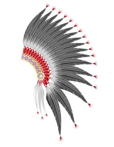 chapéu moicano da ilustração vetorial de índios americanos vetor