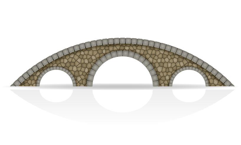 ilustração de estoque vetorial de ponte de pedra vetor