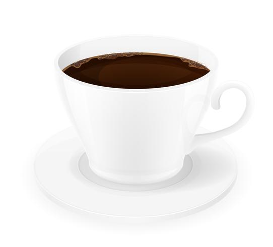 xícara de ilustração vetorial de café vetor
