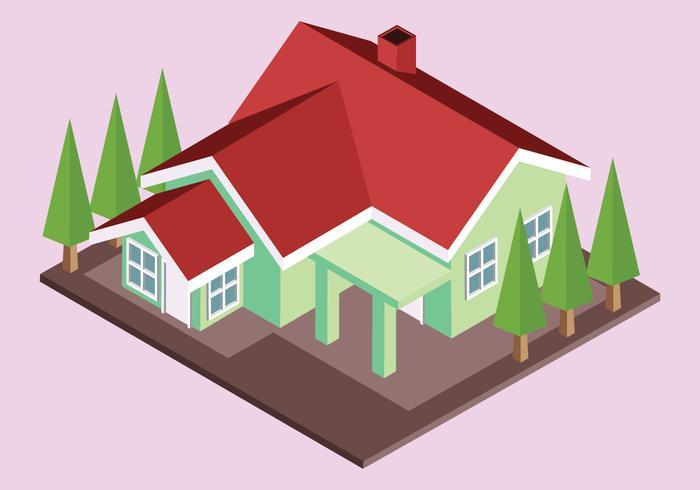 Vetor de casa isométrica