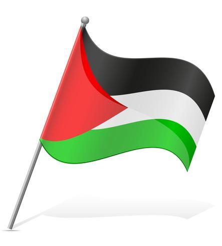 bandeira da ilustração vetorial de Palestina vetor