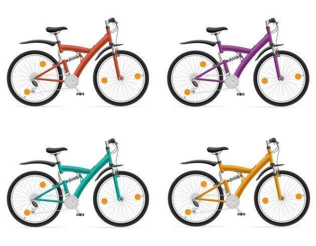 bicicletas esportivas com a ilustração do vetor de amortecedor traseiro