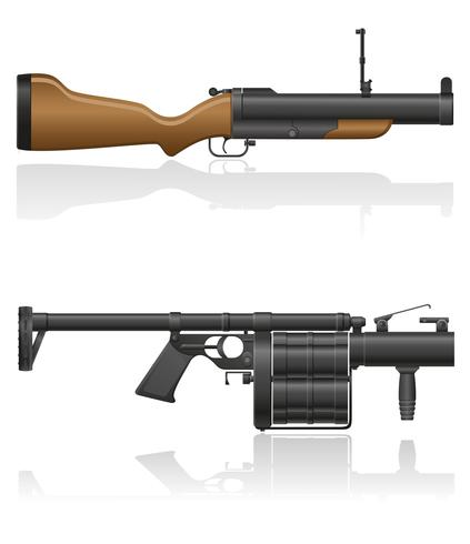 ilustração vetorial de granada-arma vetor