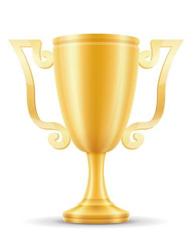 Taça vencedor ouro estoque ilustração vetorial vetor