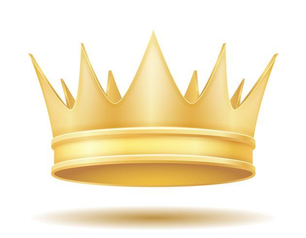 ilustração em vetor coroa real rei dourado