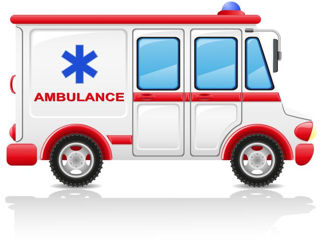 ilustração em vetor carro ambulância