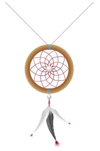 amuleto da ilustração vetorial de índios americanos vetor