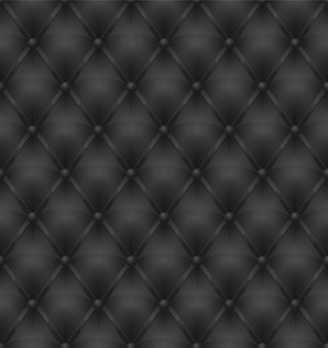 fundo sem emenda de estofos de couro preto vetor