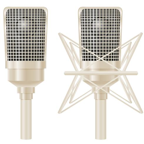 ilustração vetorial de microfone vetor