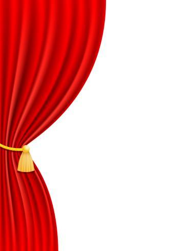 ilustração em vetor vermelho cortina teatral