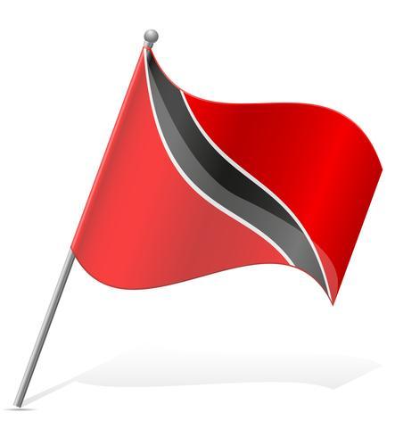 bandeira de ilustração vetorial de Trinidad e Tobago vetor