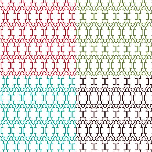 padrões de azulejos marroquinos ornamentados vetor