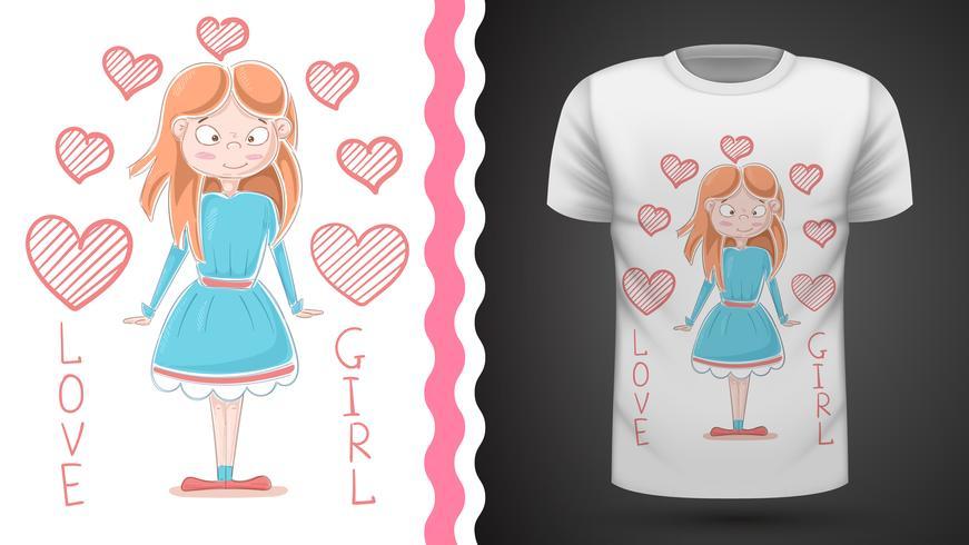 Princesinha - ideia para imprimir t-shirt vetor