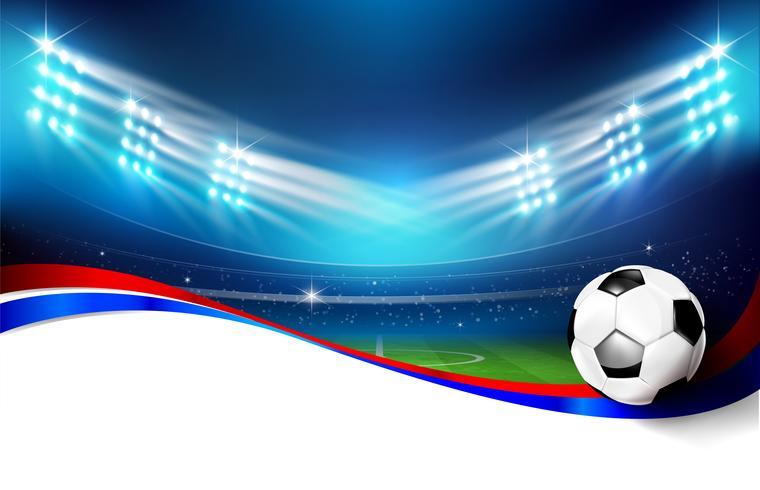 Campo futebol, com, estádio, 004 vetor