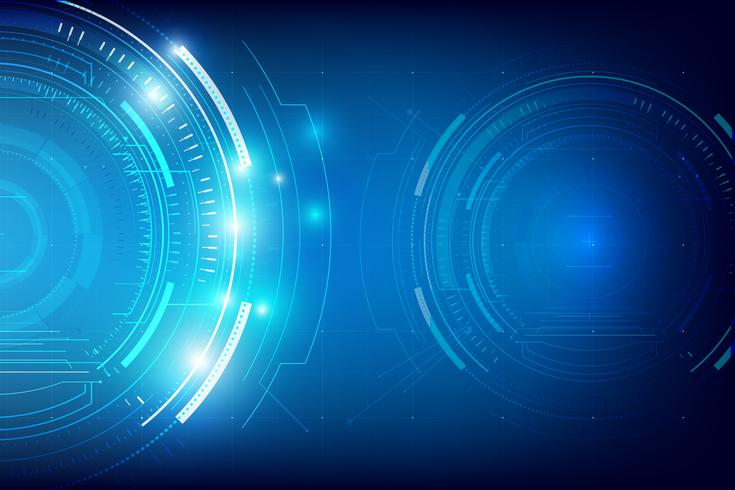 Fundo de tecnologia abstrata HUD 006 vetor