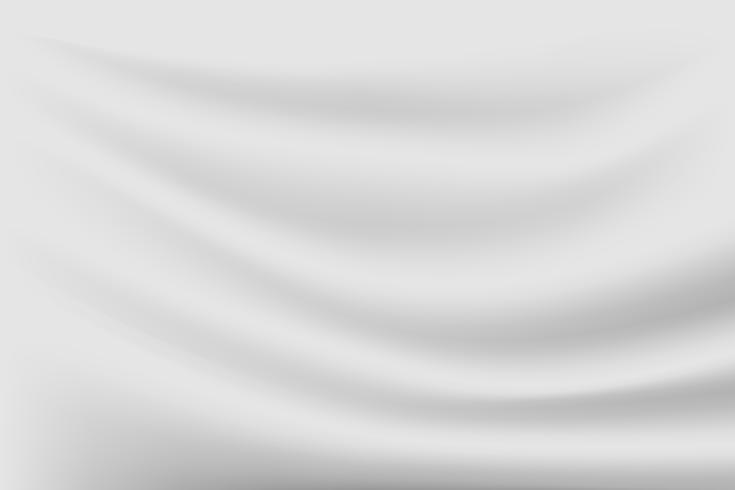 fundo de seda de textura de luxo cinzento abstrato e onda de pano vetor