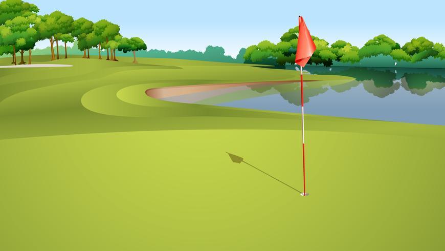 Campo de golfe vetor