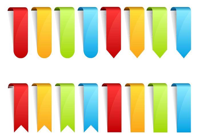 Pacote Vector Web Ribbons