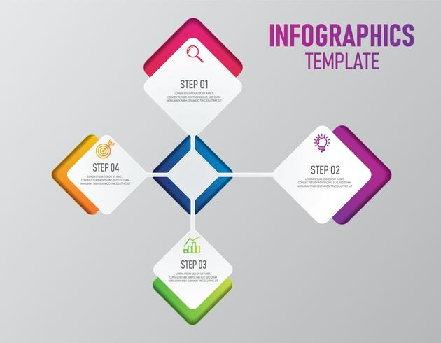 Infografia colorida de apresentação de negócios vetor