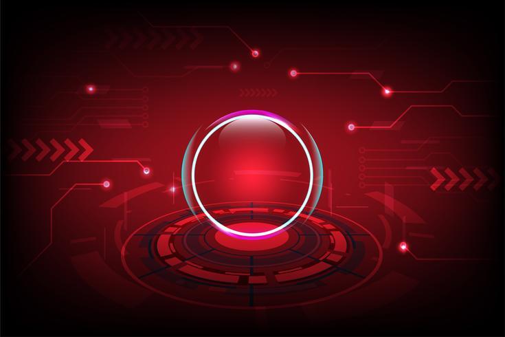 Fundo abstrato tecnologia com o conceito futurista Hi-Tech vetor