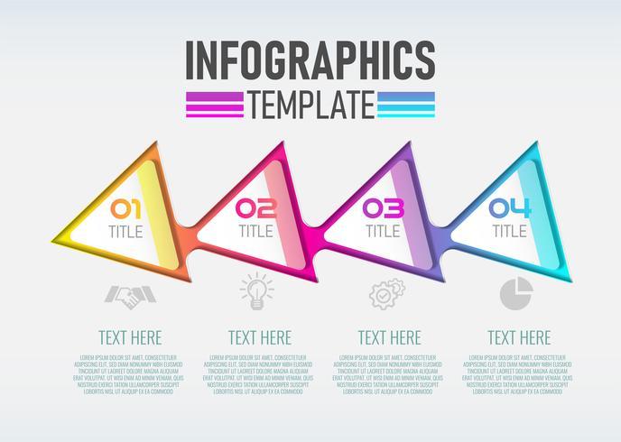 Etiqueta moderna de Infographic 3d do vetor, projeto do molde. vetor