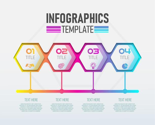 Etiqueta moderna de Infographic 3d do vetor, projeto do molde. Conceito de negócio, Infografia com opções de número 4. vetor