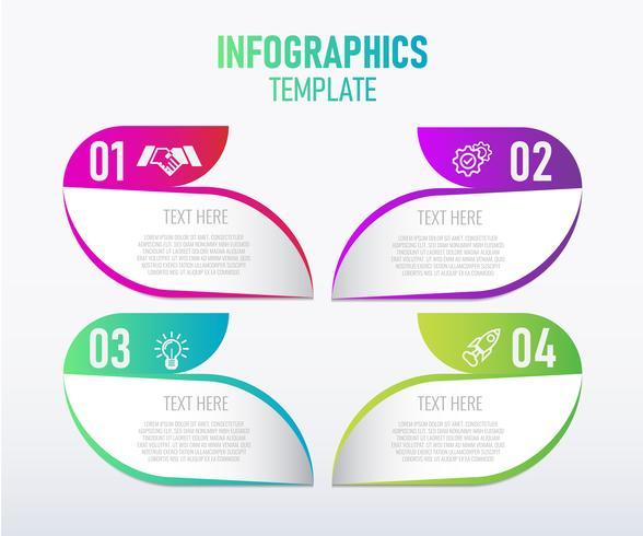 Modelo de design de infográficos colorido vetor