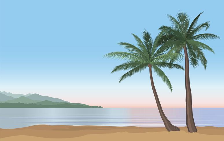 Fundo de férias de verão. Vista à beira-mar. Resort na praia vetor