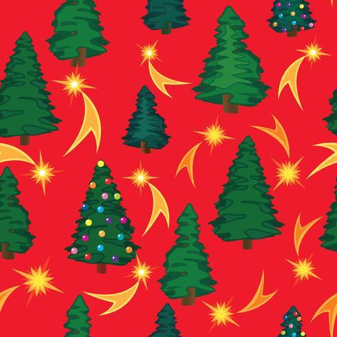 Padrão sem emenda de árvore de Natal. Fundo floral de férias de inverno vetor