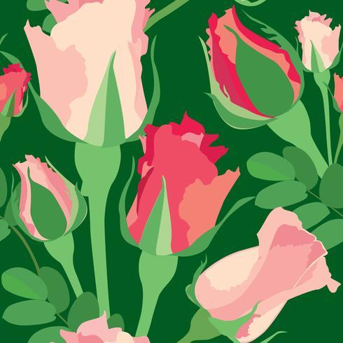 Padrão sem emenda floral. Fundo de flor. Florescer textura do jardim vetor