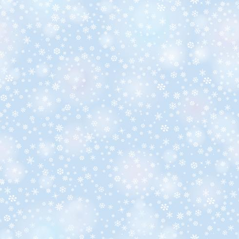 Snow seamless pattern Christmas Fundo de férias de inverno vetor