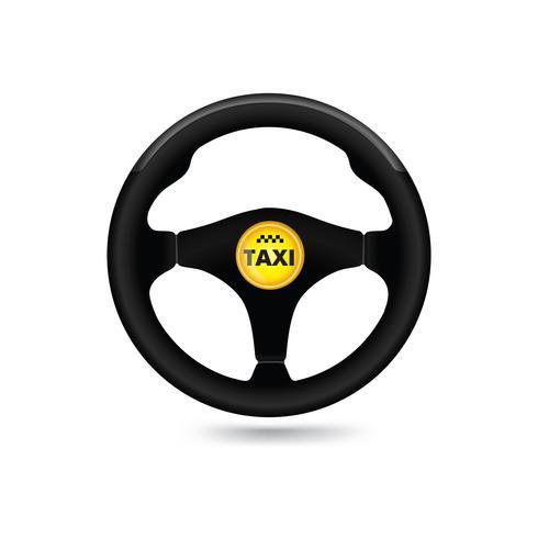 Sinal de carro de táxi. Ícone de carro wheell. Vetor