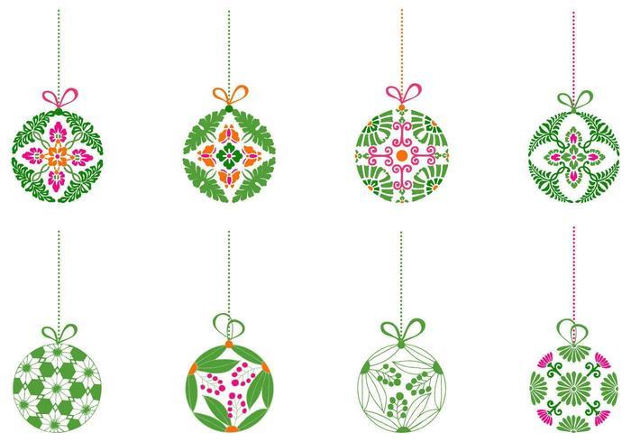 Pacote decorativo de vetores de ornamento de bola de natal